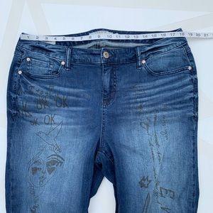 torrid Jeans - Torrid Doodle Art Girlfriend Jeans Size 18